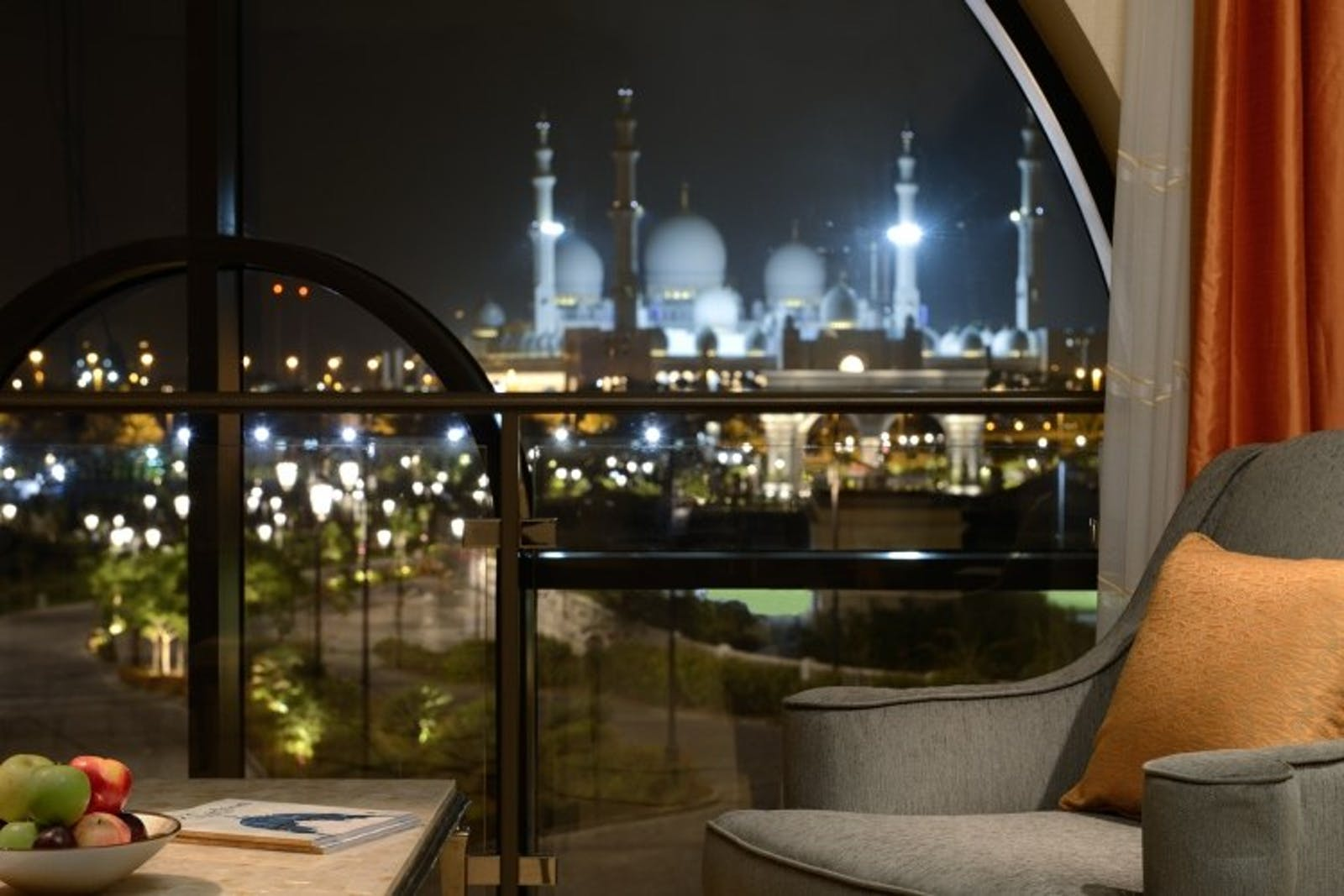 Evening Outdoor View of Ritz Carlton Abu Dhabi, Grand Canal