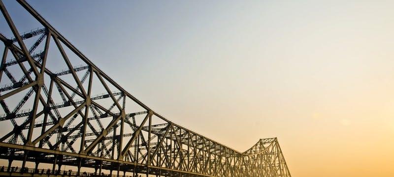 Howrah bridge in Kolkata at sun rise