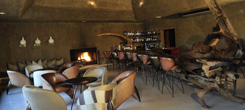Bar at Sabi Sabi Earth Lodge, South Africa