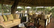 Pool side lounge area at Sabi Sabi Selati Camp, South Africa