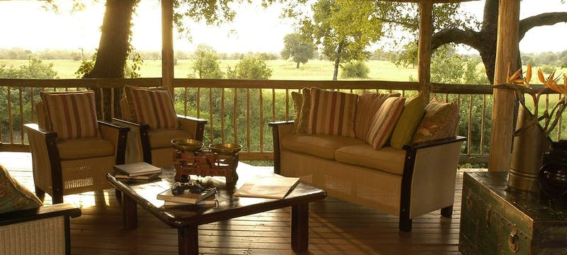 Lounge deck at Sabi Sabi Selati Camp, South Africa
