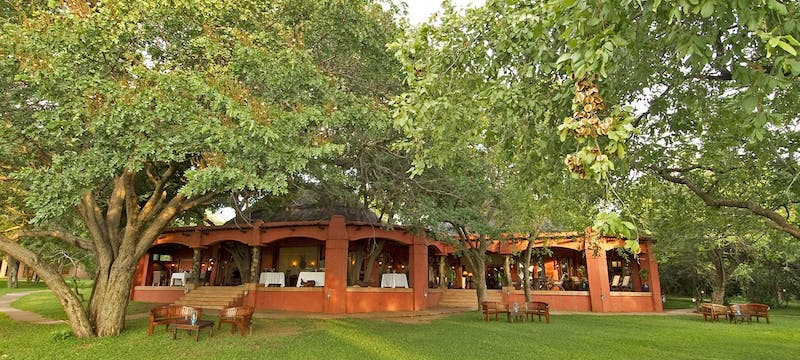 Dining area at Sanctuary Chobe Chilwero