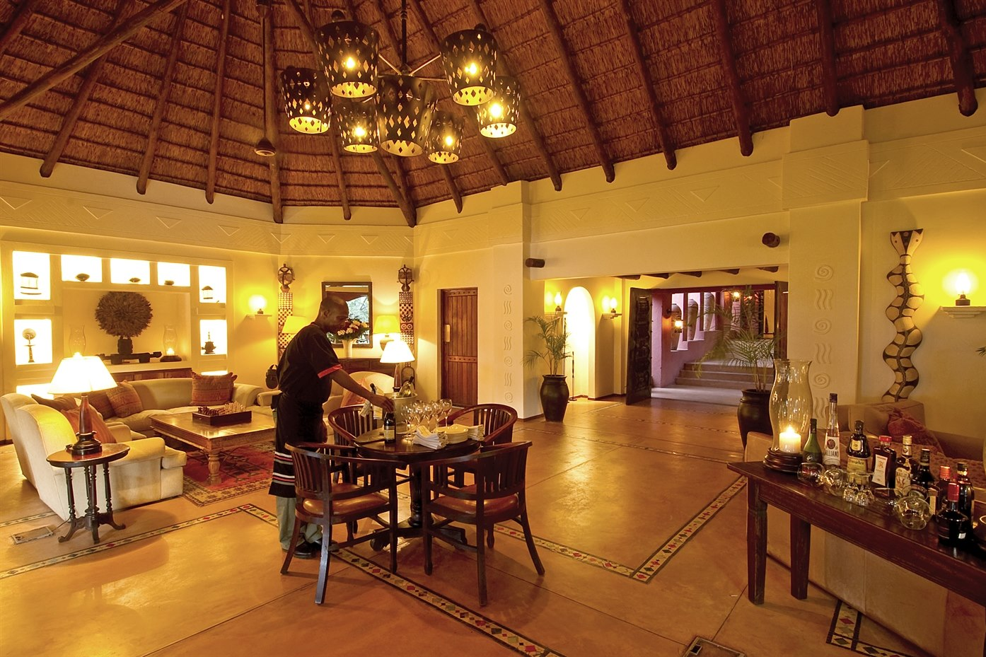 Living Room in Sanctuary Chobe Chilwero