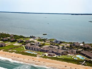 Aerial View of Sanderling Resort, North Carolina