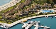 Aerial View Of Sani Asterias And Marina