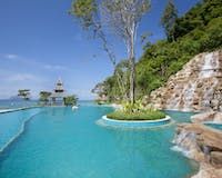 Main Pool Waterfall at Santhiya Koh Yao Yai Resort & Spa