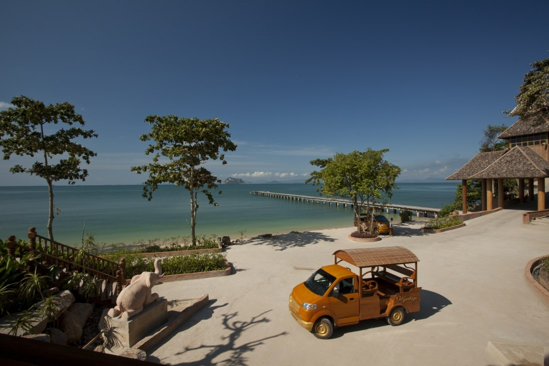 Pier and Wooden Car at Santhiya Koh Yao Yai Resort & Spa