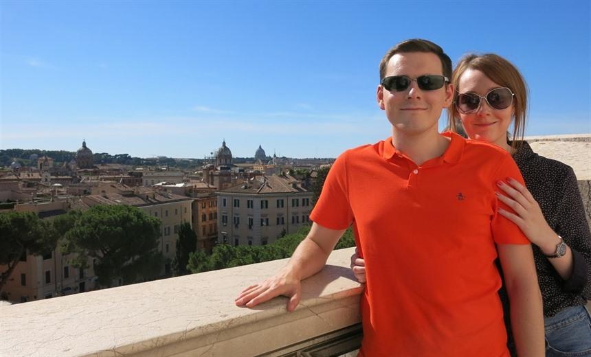 At the top of Altare della Patria
