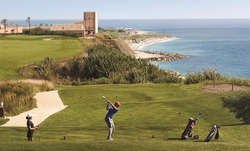 Golf course at Verdura