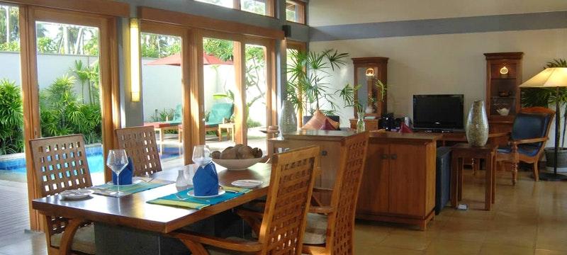 Garden Pavilion Living & Dining Area
