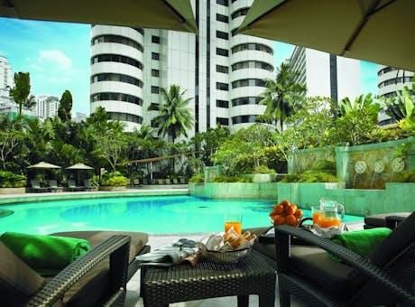 Pool side at Shangri-La Hotel Kuala Lumpur, Malaysia
