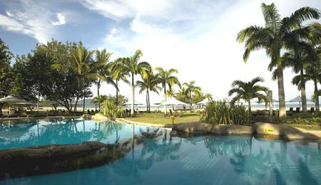 Swimming pool at Shangri La Rasa Ria Resort, Borneo