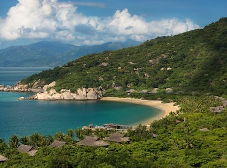 Aerial View of Six Senses Ninh Van Bay