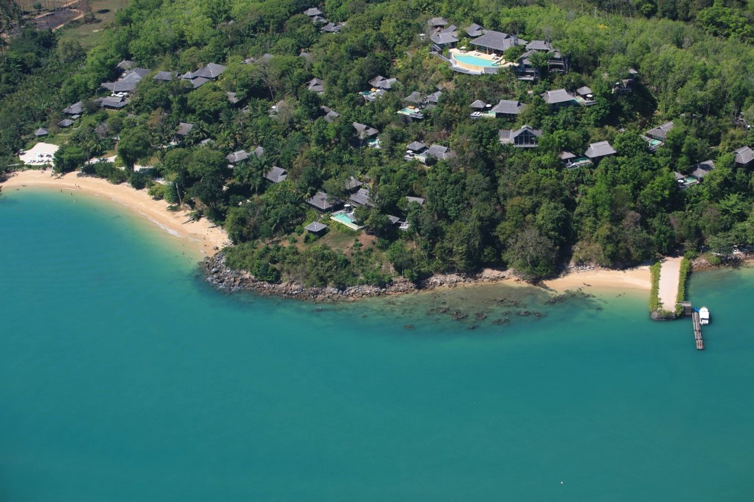 Aerial View at Six Senses Yao Noi