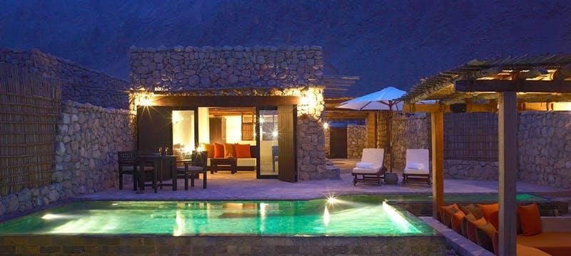 Pool Villa Exterior at Night