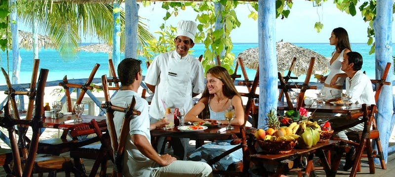 Beach Side Dining at Sol Rio de Luna y Mares