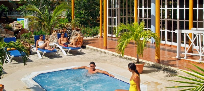 Solarium And Outdoor Jacuzzi at Sol Rio de Luna y Mares
