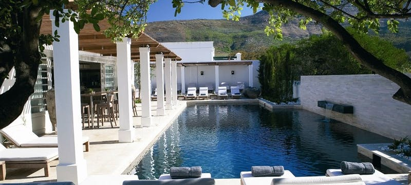 Pool area at Steenberg Hotel