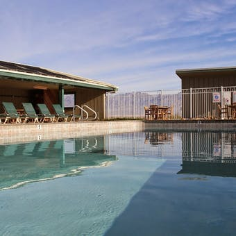 Pool area at Stovepipe Wells