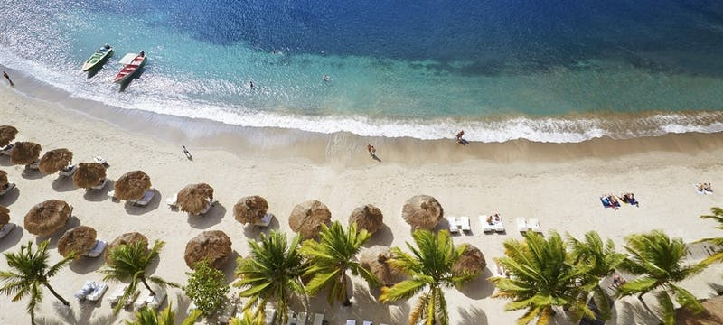 Aerial View of Sugar Beach