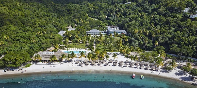 Aerial View at Sugar Beach, a Viceroy Resort