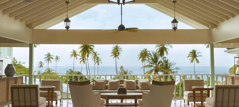 Palm Court Lounge at Sugar Beach, a Viceroy Resort