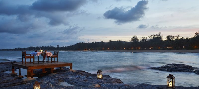 Private Dining on the Rocks at Tanjong Jara Resort, Kuala Terengganu