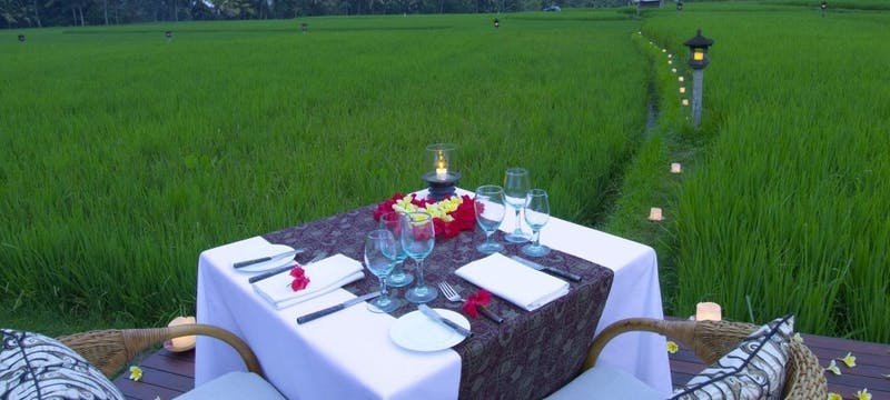 Rice Field Private Dining at The Chedi Club Tanah Gajah