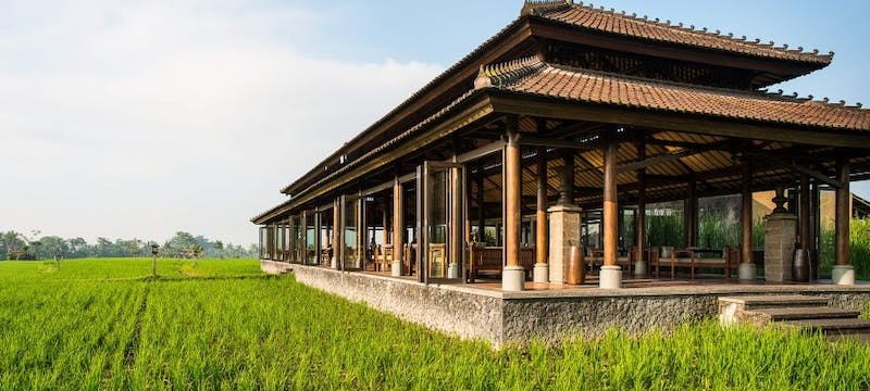 Restaurant Exterior at The Chedi Club Tanah Gajah