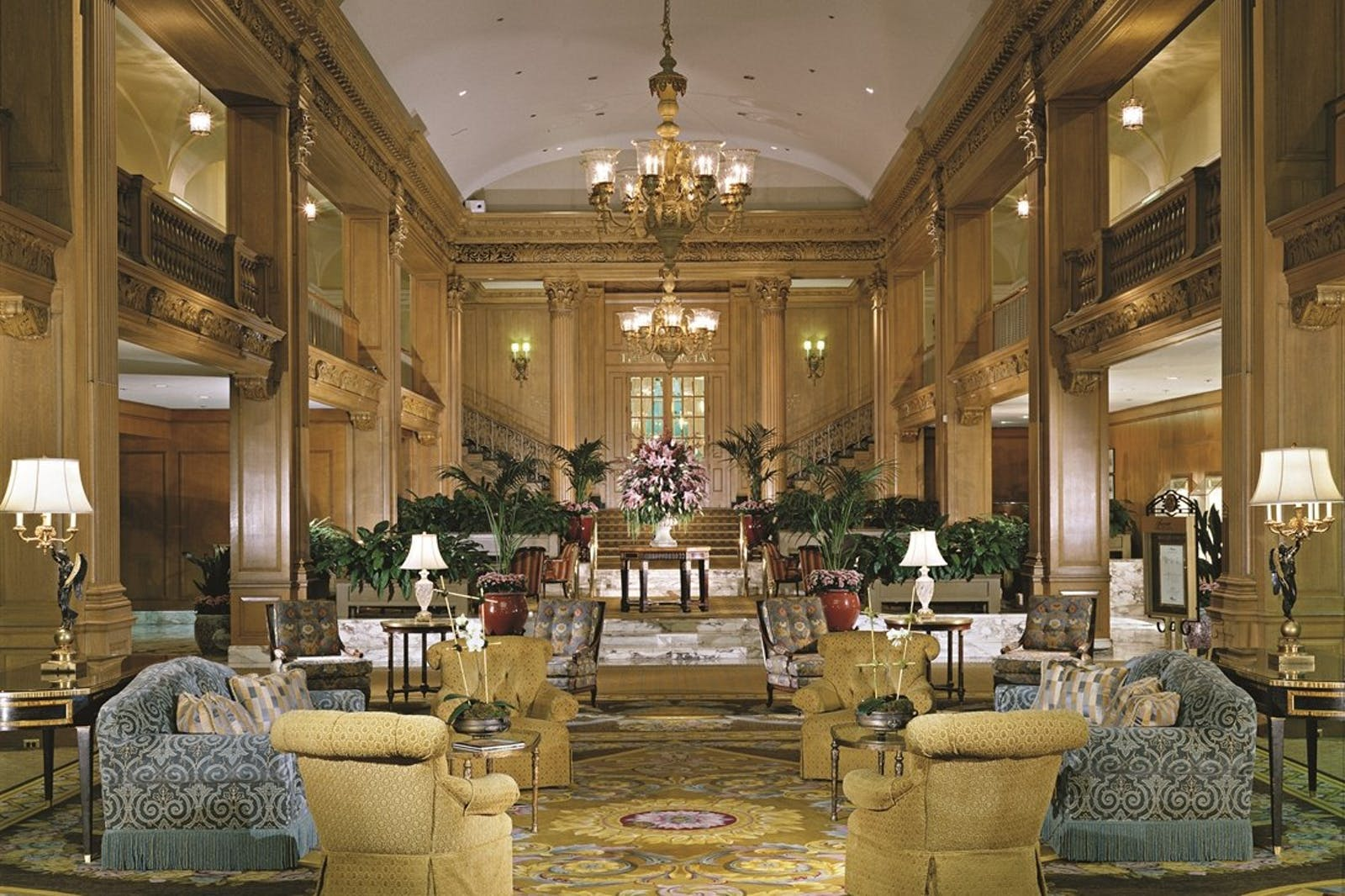 Lobby at Fairmont Olympic Hotel, Seattle