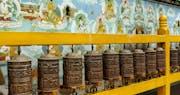 Buddhist prayer cylinders, Dharamshala