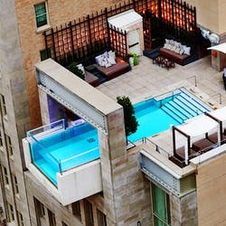 Roof Top Swimming Pool at The Joule Dallas