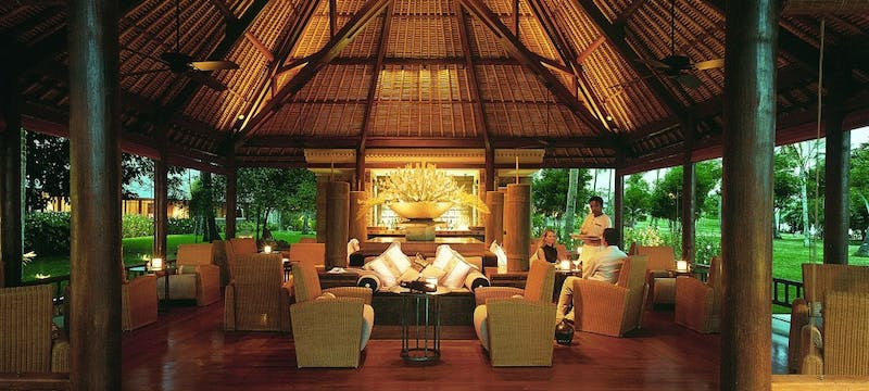 Lounge area at The Oberoi Lombok