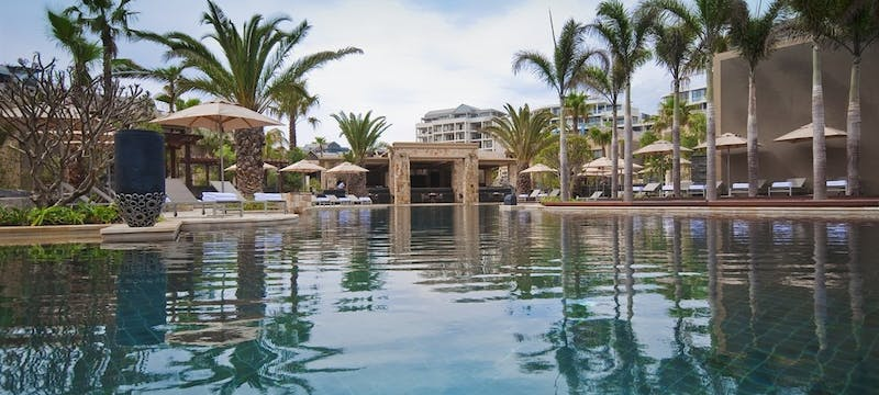Swimming pool area at One & Only Cape Town