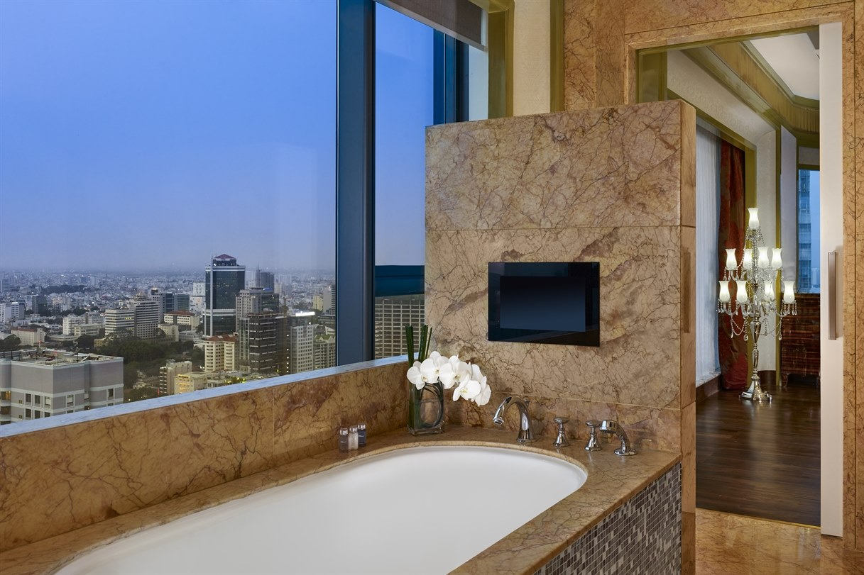 Grand Deluxe Twin Room Bathroom at The Reverie Saigon
