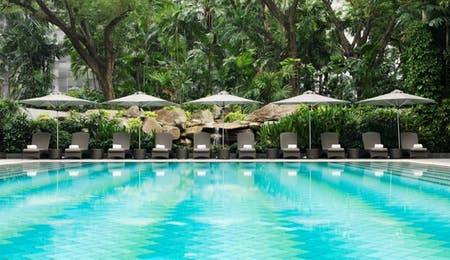 Swimming pool at The Ritz-Carlton, Millenia Singapore