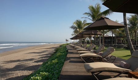Samaya Sun Loungers  at The Samaya Seminyak