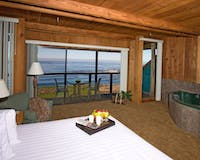 Bedroom with Beautiful View at Timber Cove Inn, Sonoma, California