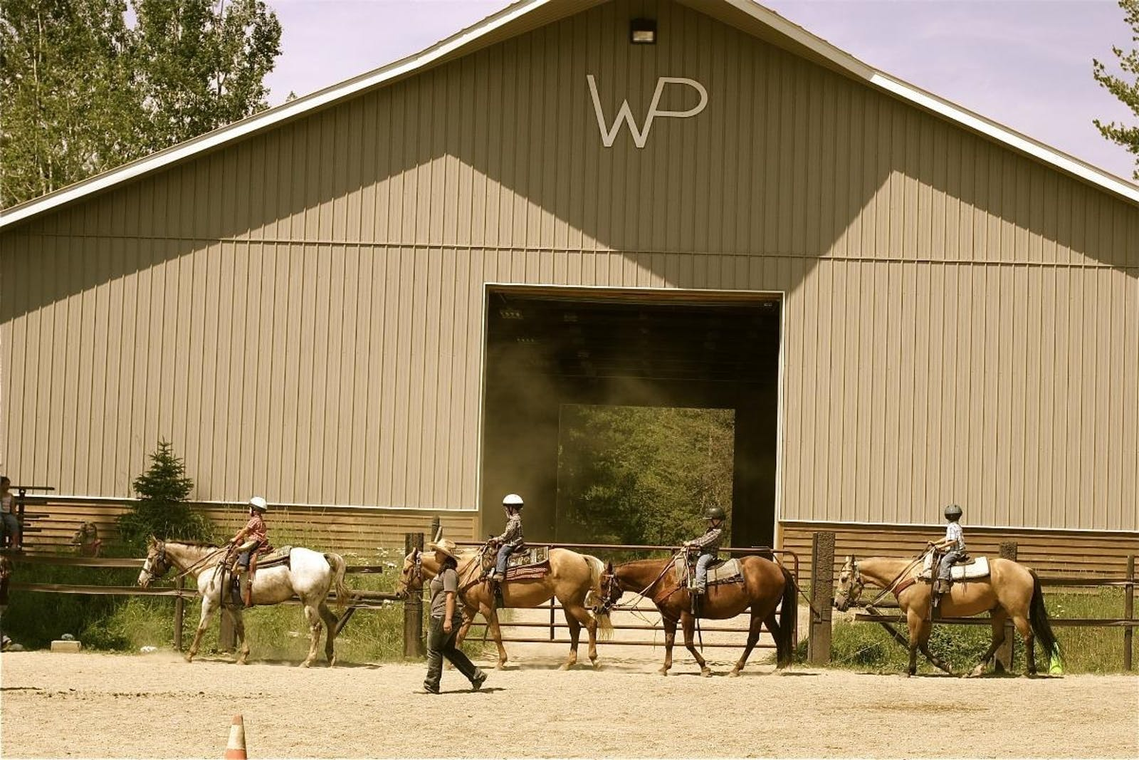 Kids Horsemanship Class At Western Pleasure Guest Ranch