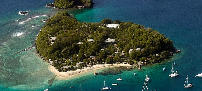 Aerial View Of Young Island Beach