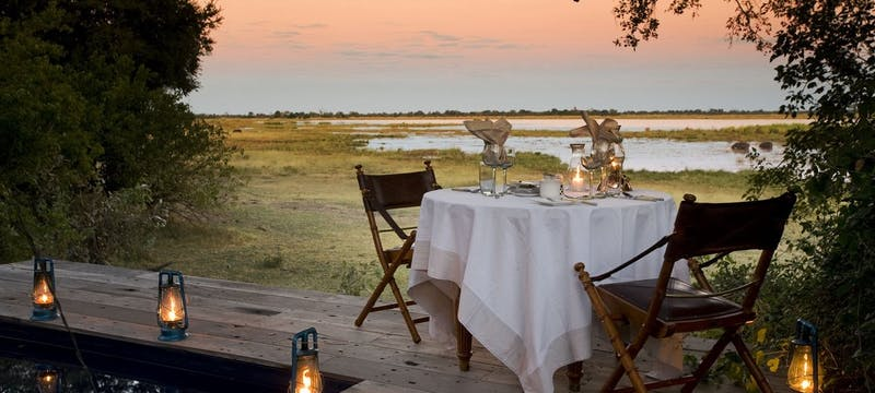 Private Dining at Zarafa Camp